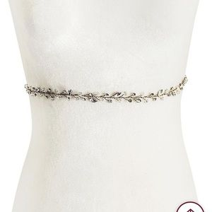 Brides & Hairpins Norah crystal Sash w/ Silk Ties